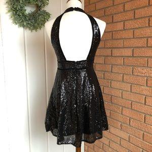 Free People Dresses - Free People Film Noir Sequin Halter Dress